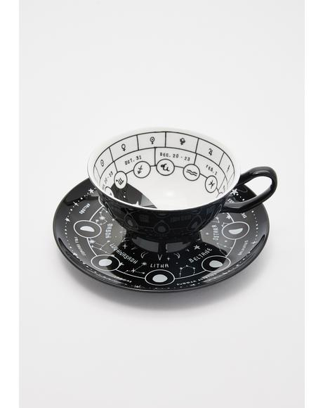 Cosmic Tea Cup And Saucer