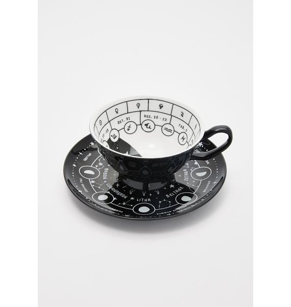 Killstar Cosmic Tea Cup And Saucer