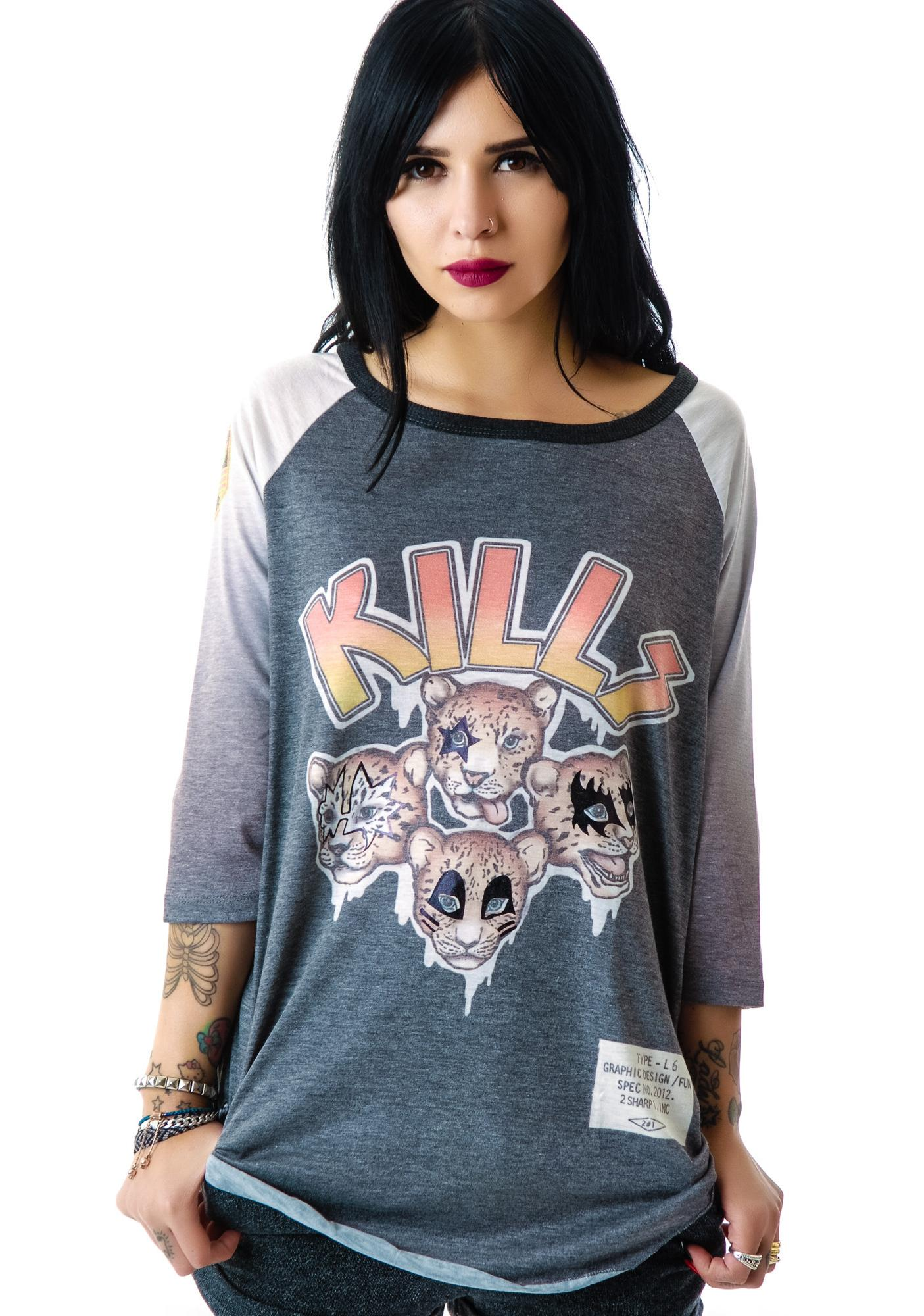 Cheetah KILLS Baseball Raglan Tour Shirt