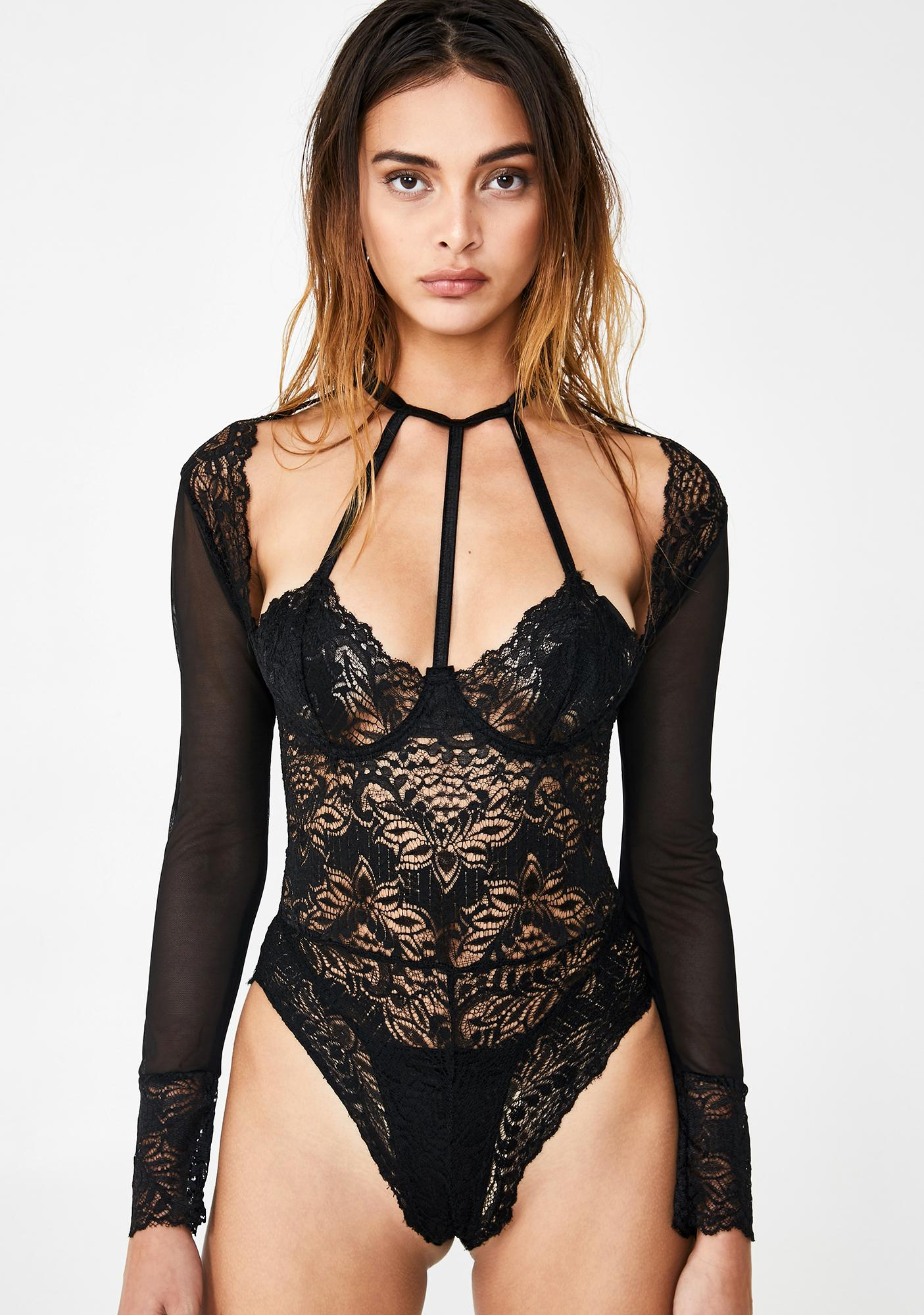 Sultry Behavior Lace Teddy