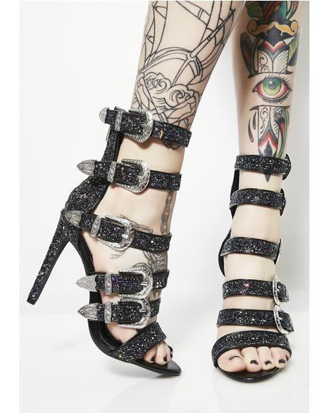 Strapped In Buckle Heels