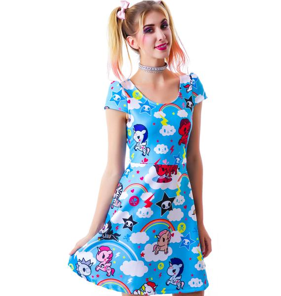 Japan L.A. Tokidoki Unicorno Cap Sleeve Dress