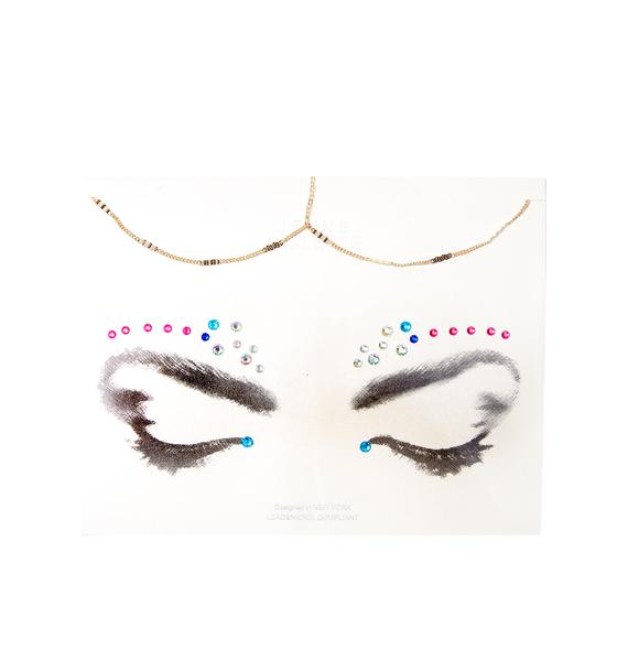 Archerina Face Jewel Chain Set