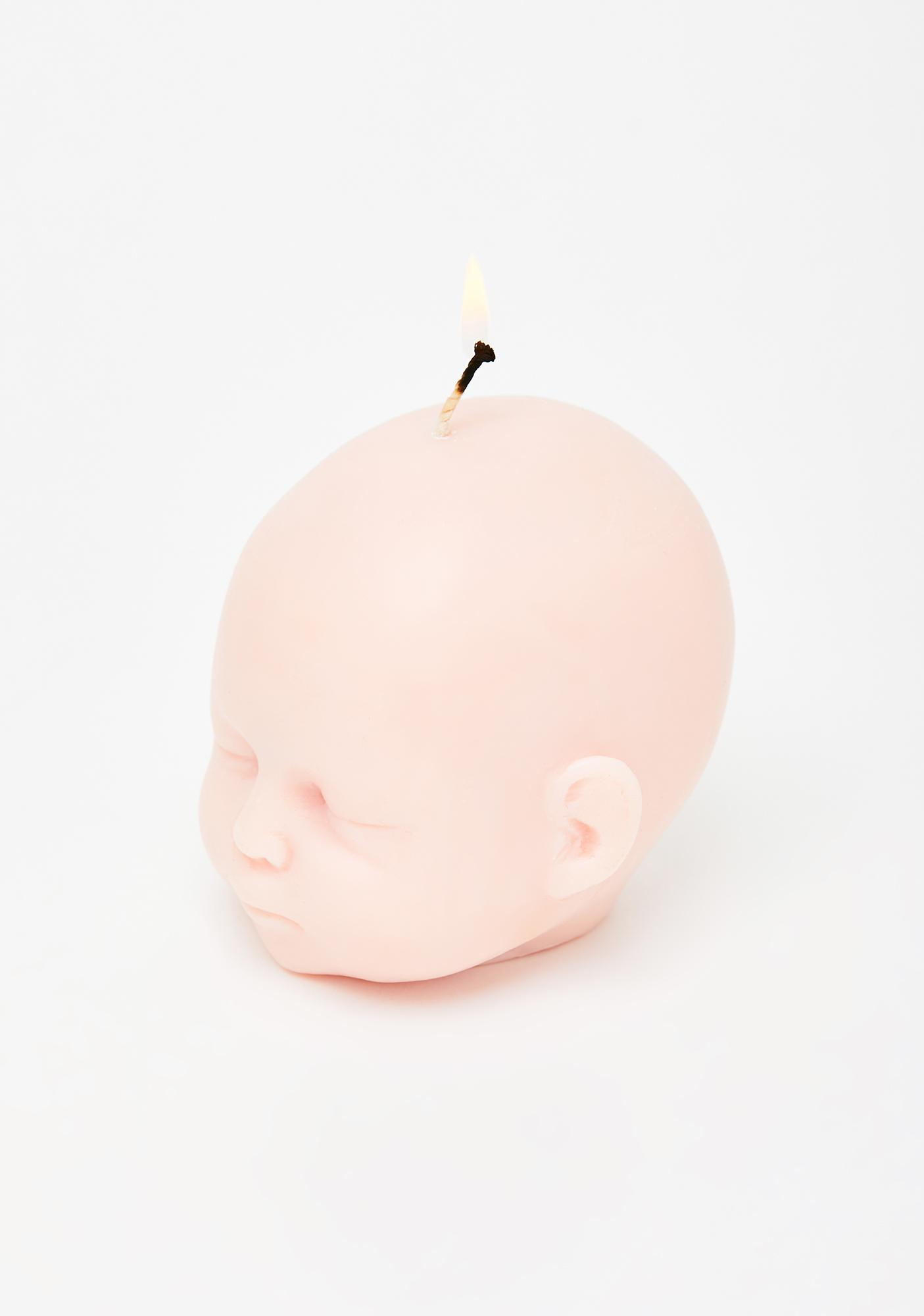 The Blackened Teeth Peach Baby Doll Soy Candle