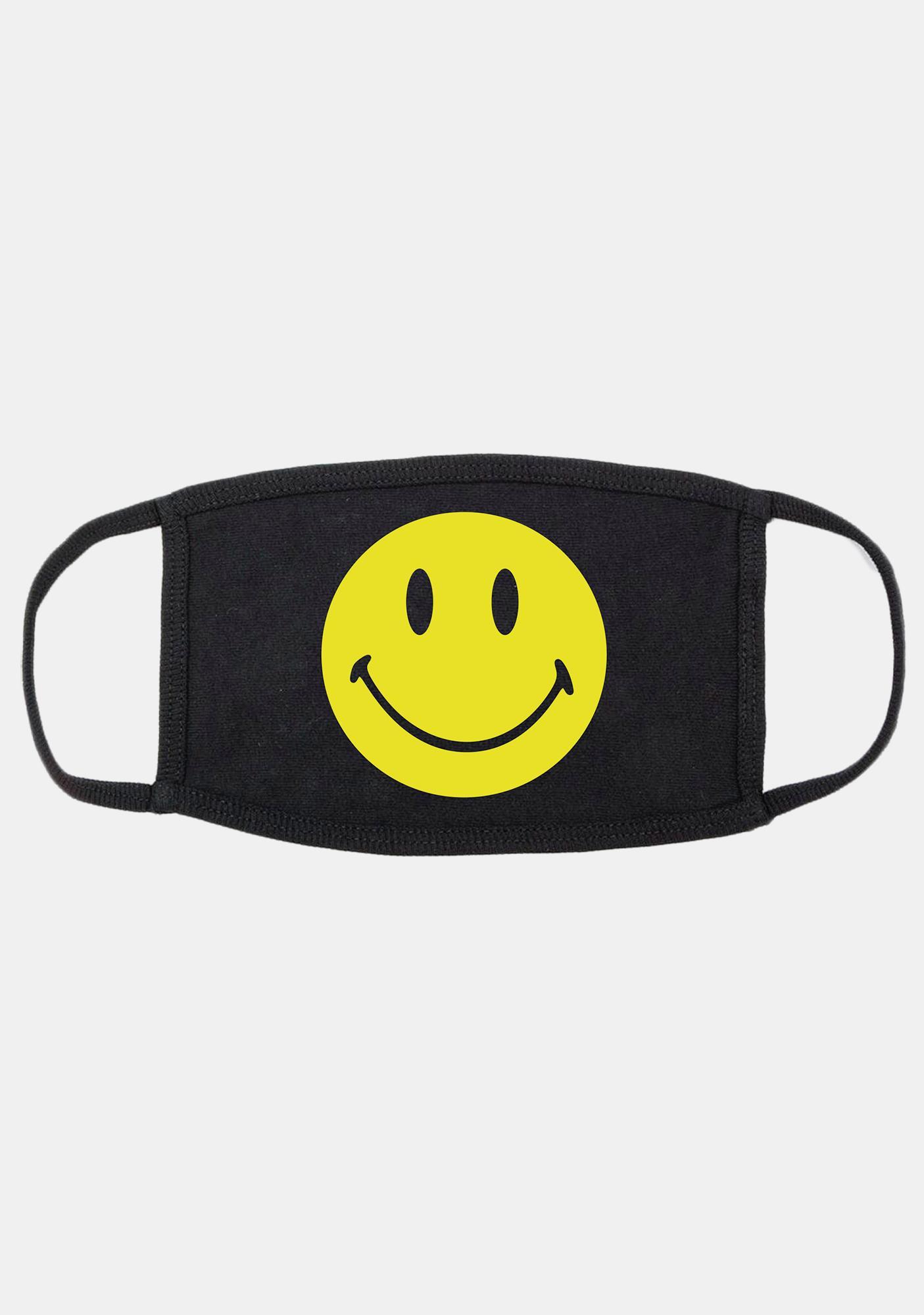 CHINATOWN MARKET Smiley Face Logo Mask