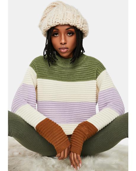 Sweet Daze Colorblock Knit Sweater