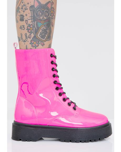 Sweet Atomic Kick Combat Boots