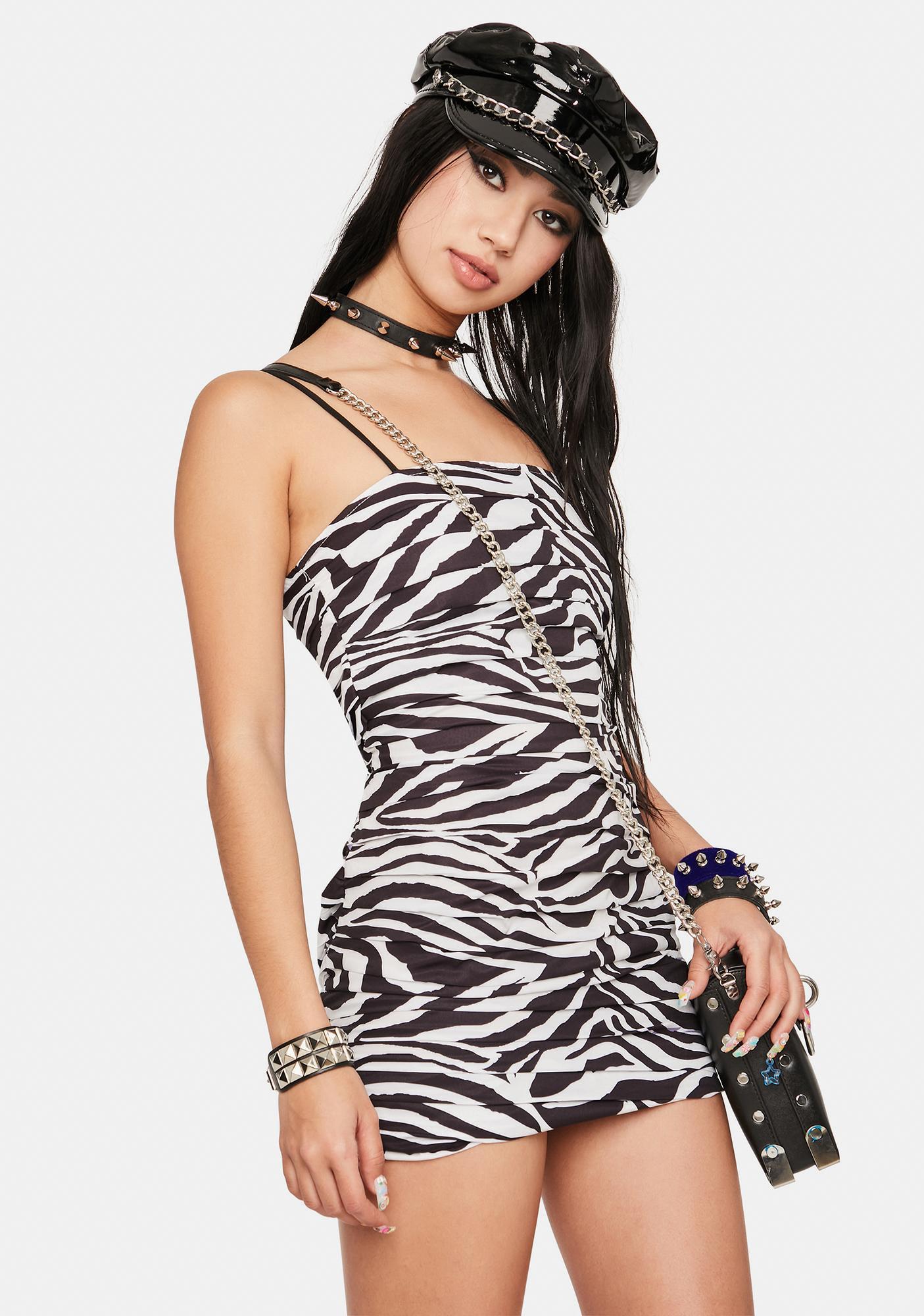 Wild Side Pleated Mini Dress