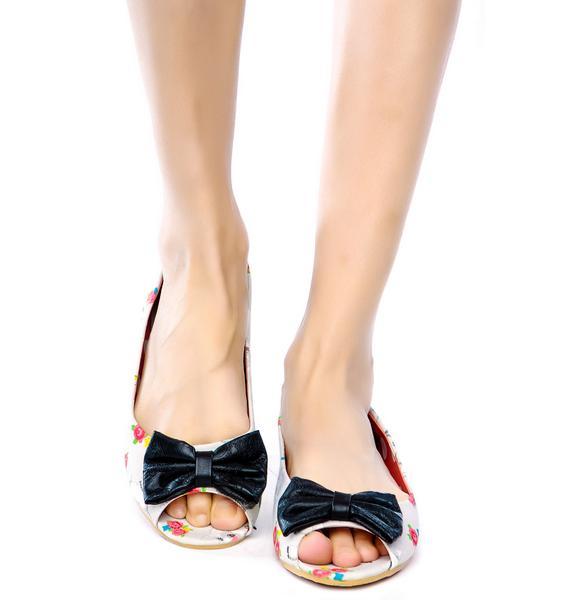 Iron Fist Black Sheep Peep Toe Flats