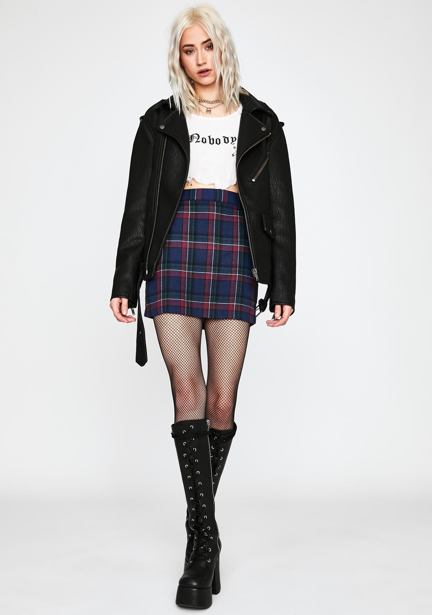 Detention Demise Plaid Skirt