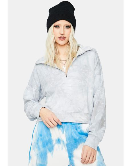 Berry About The Vibe Tie Dye Cropped Pullover