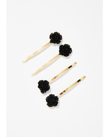 Secret Garden Flower Bobby Pins