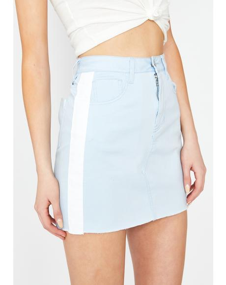 Sky Sporty Gurl Mini Skirt