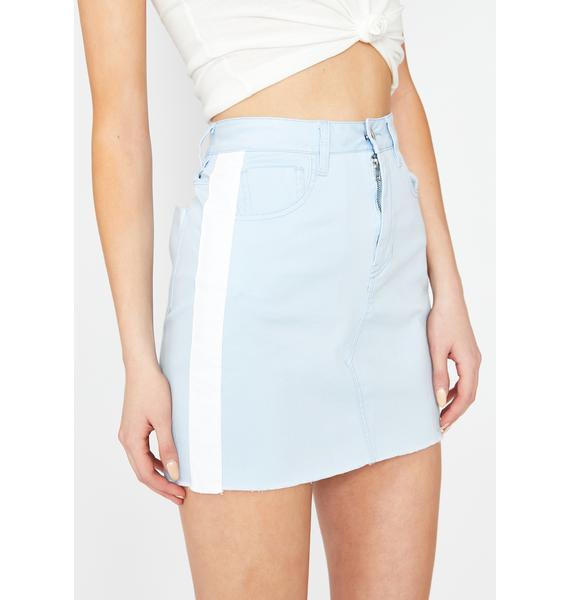 Sky Sporty Gurl Mini Skirt