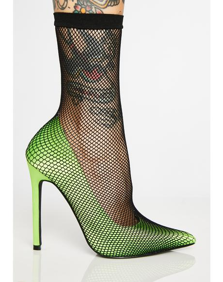 Poisonous Fishnet Heels