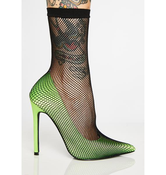 Poisonous Fishnet Heels