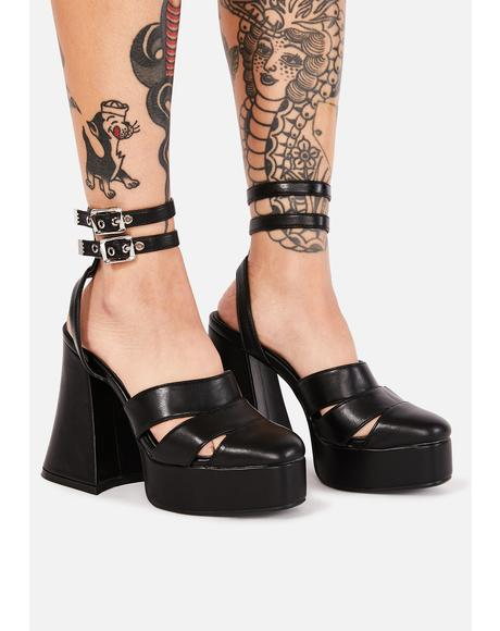 Troubled Talk Platform Heels