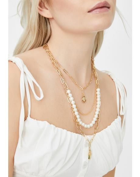 Victorian Desires Pearl Necklace