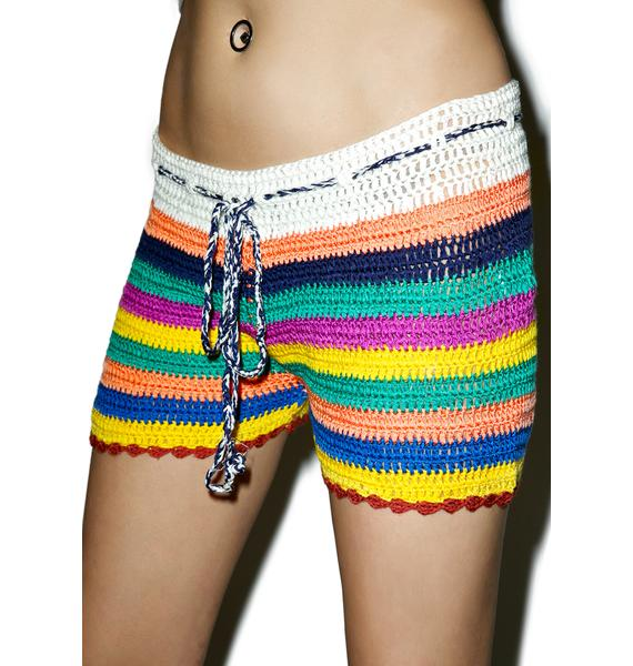 Glamorous Sundown Crochet Shorts