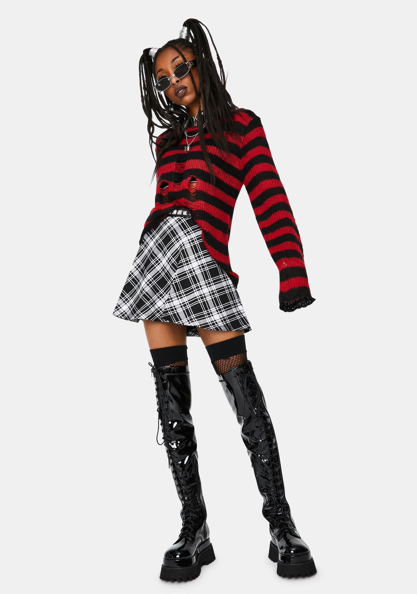 Tripp NYC Red Rag Striped Sweater