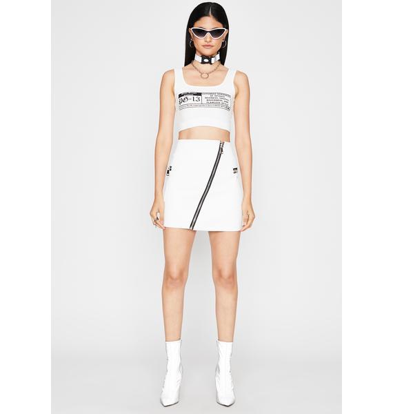 Frosty Zip It Honey Mini Skirt