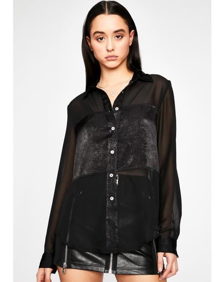 Tell All Sheer Blouse