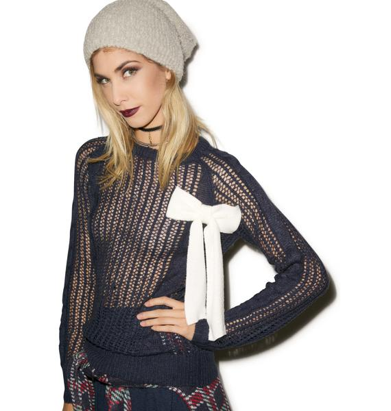 Wildfox Couture Bow Party Sweater