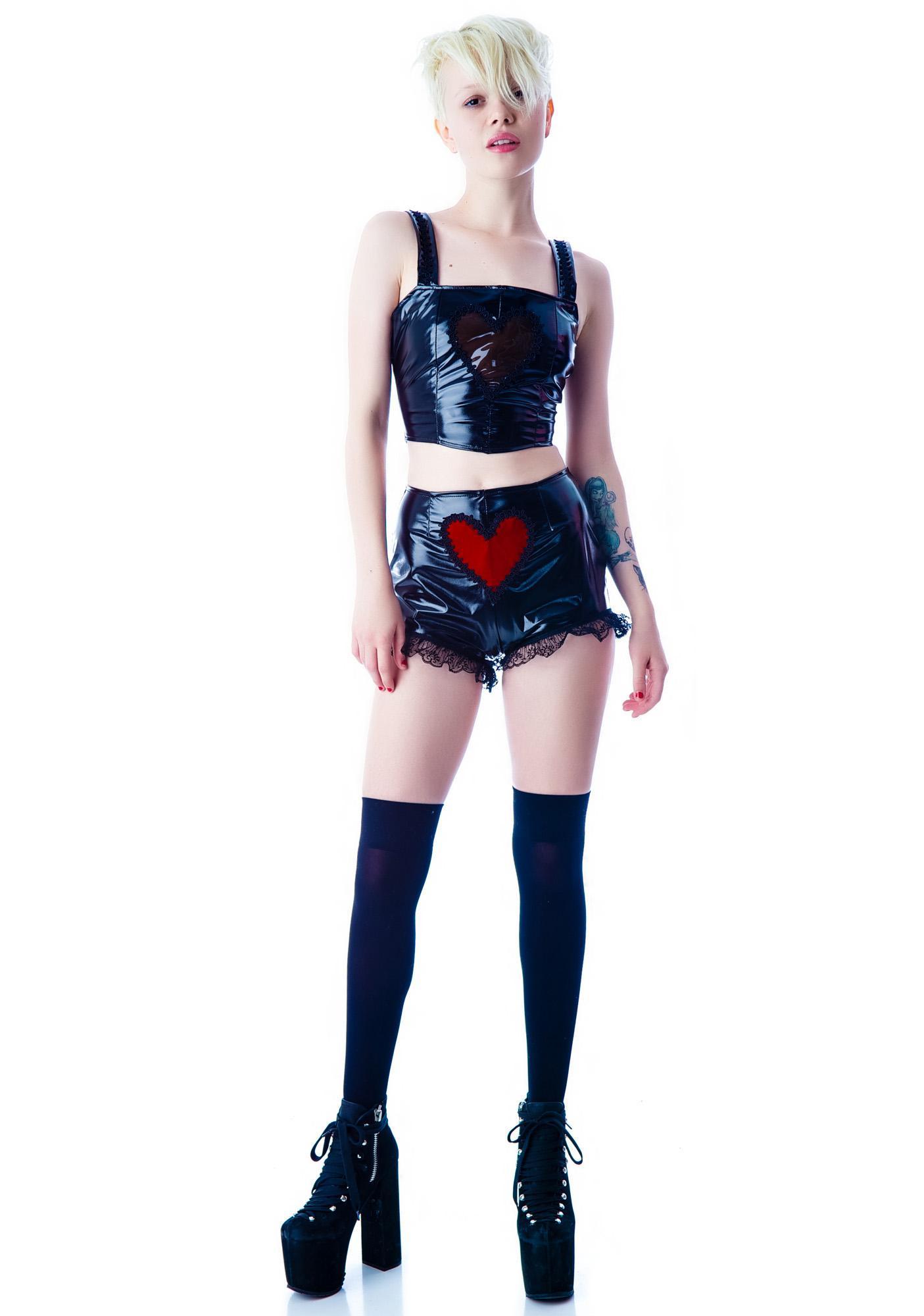 Black Smoke Clear Heart Vinyl Top