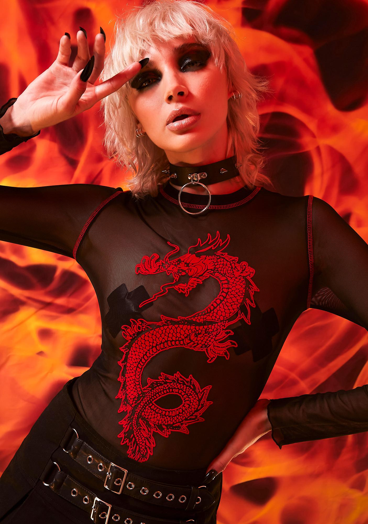 Current Mood Summon The Fire Mesh Tee