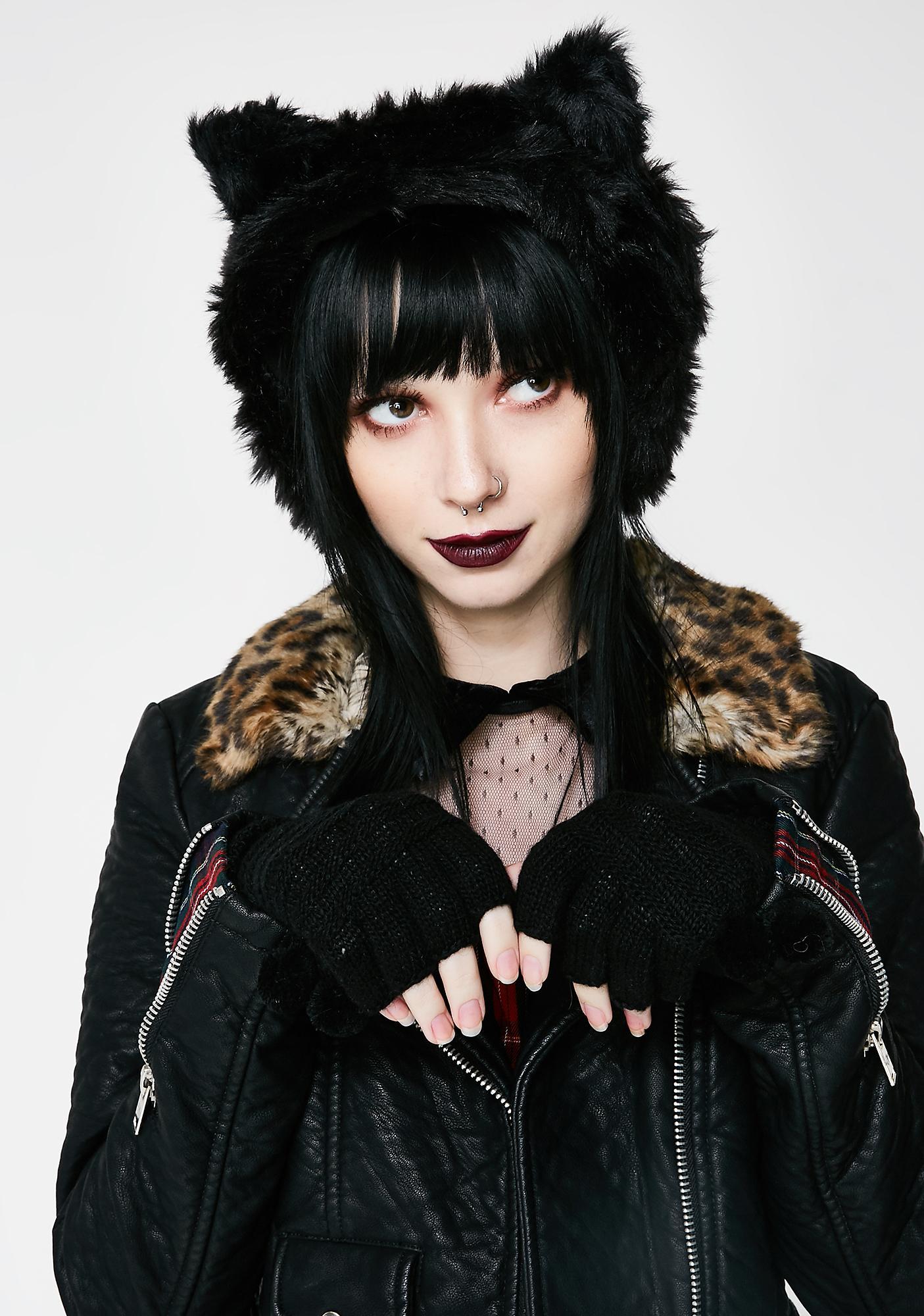 Killstar Le Chat Noir Ear Muffs