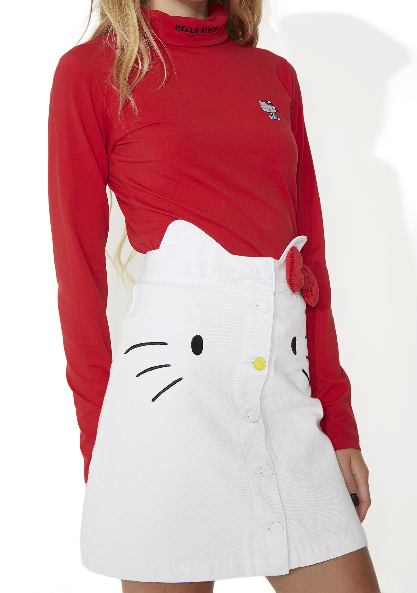 Lazy Oaf Hello Kitty Denim Skirt