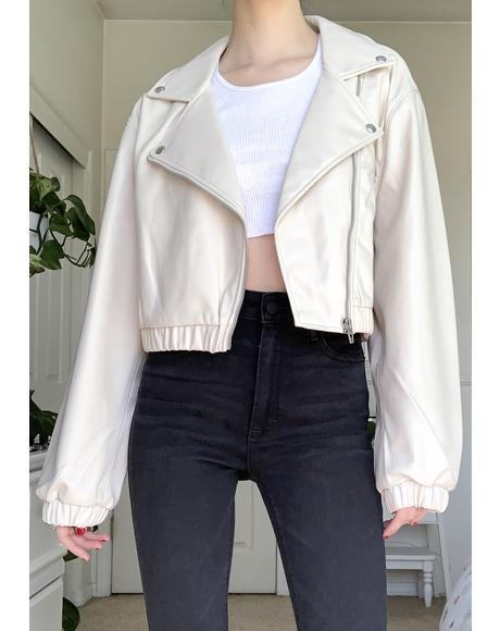 Chalk Moto Jacket