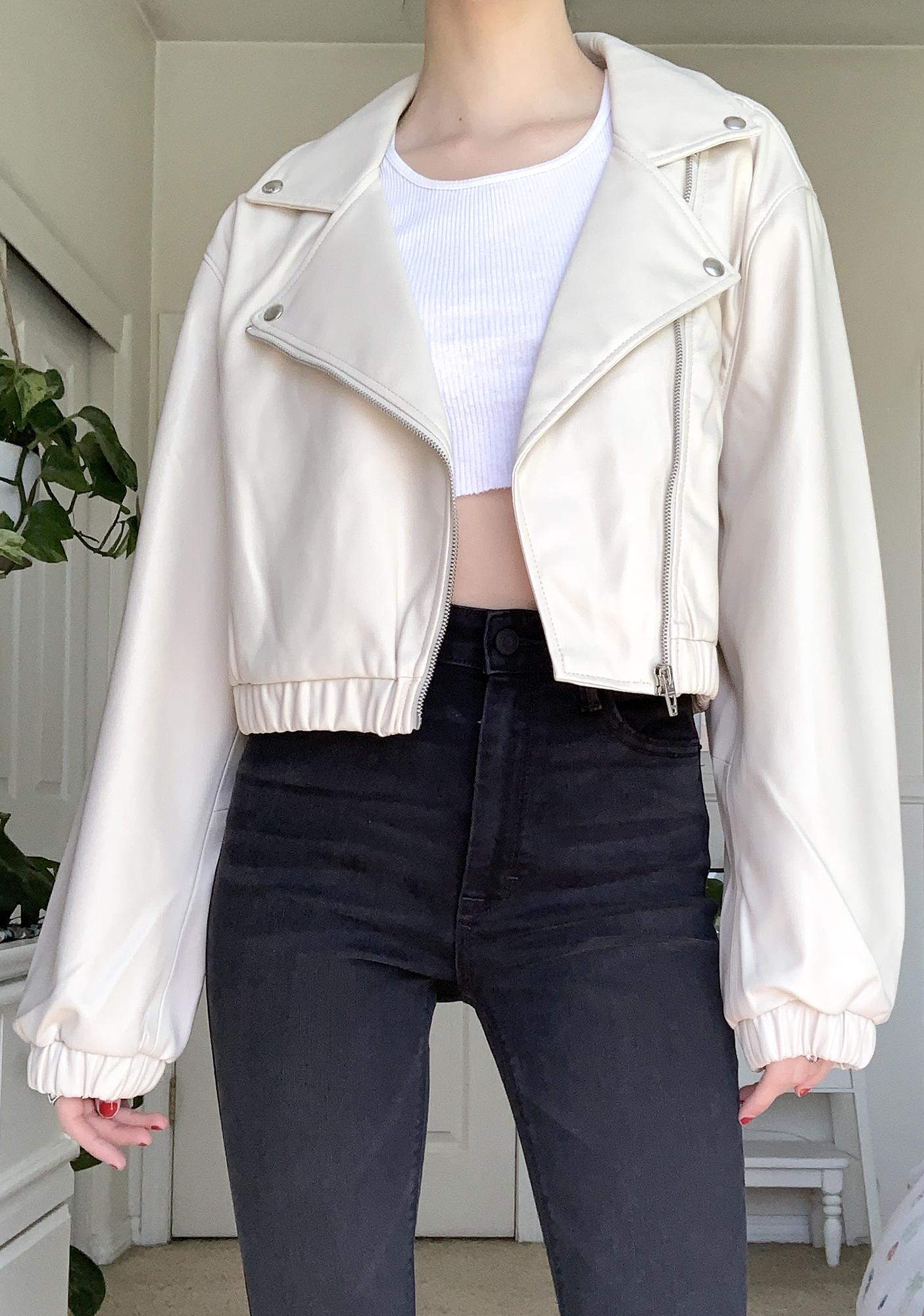 Blank NYC Chalk Moto Jacket