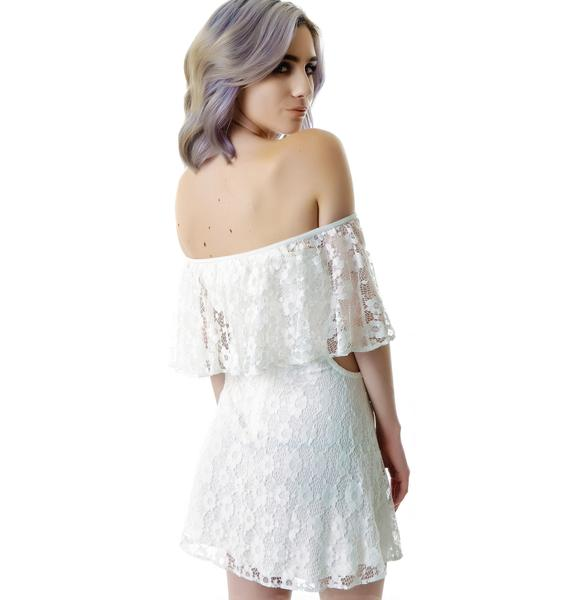 For Love & Lemons Tender Heart Lace Cutout Dress