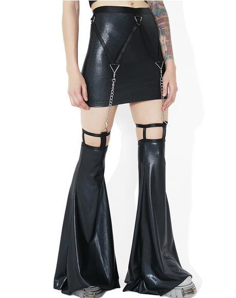 Shadow Trance Mini Garter Skirt