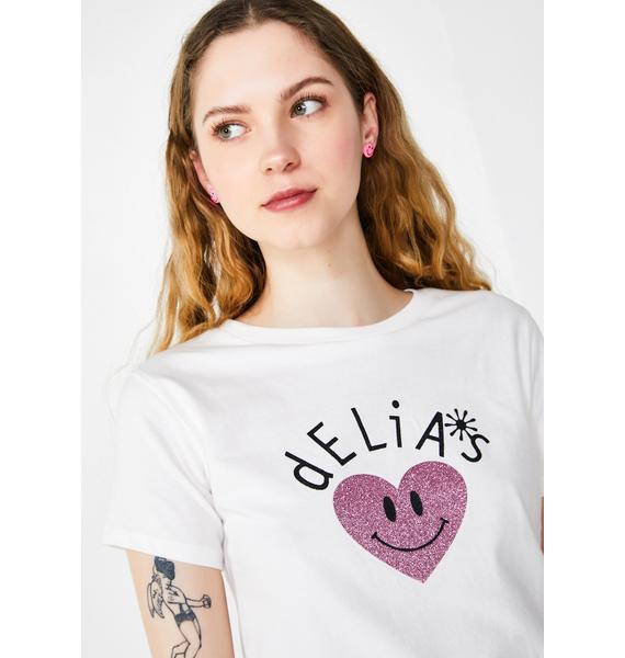 dELiA*s by Dolls Kill Power Of Love Baby Tee