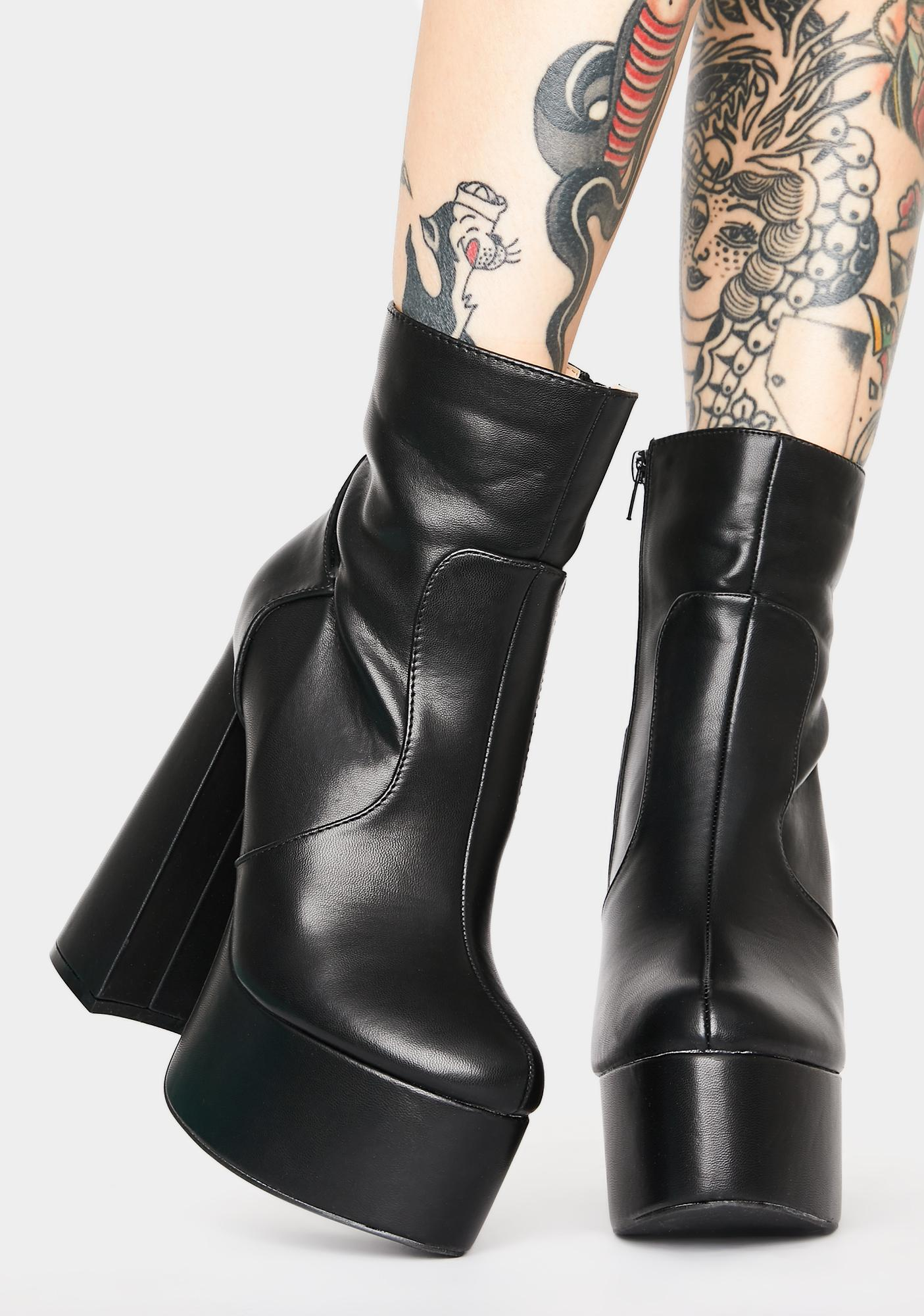 Lost N' Never Found Platform Boots