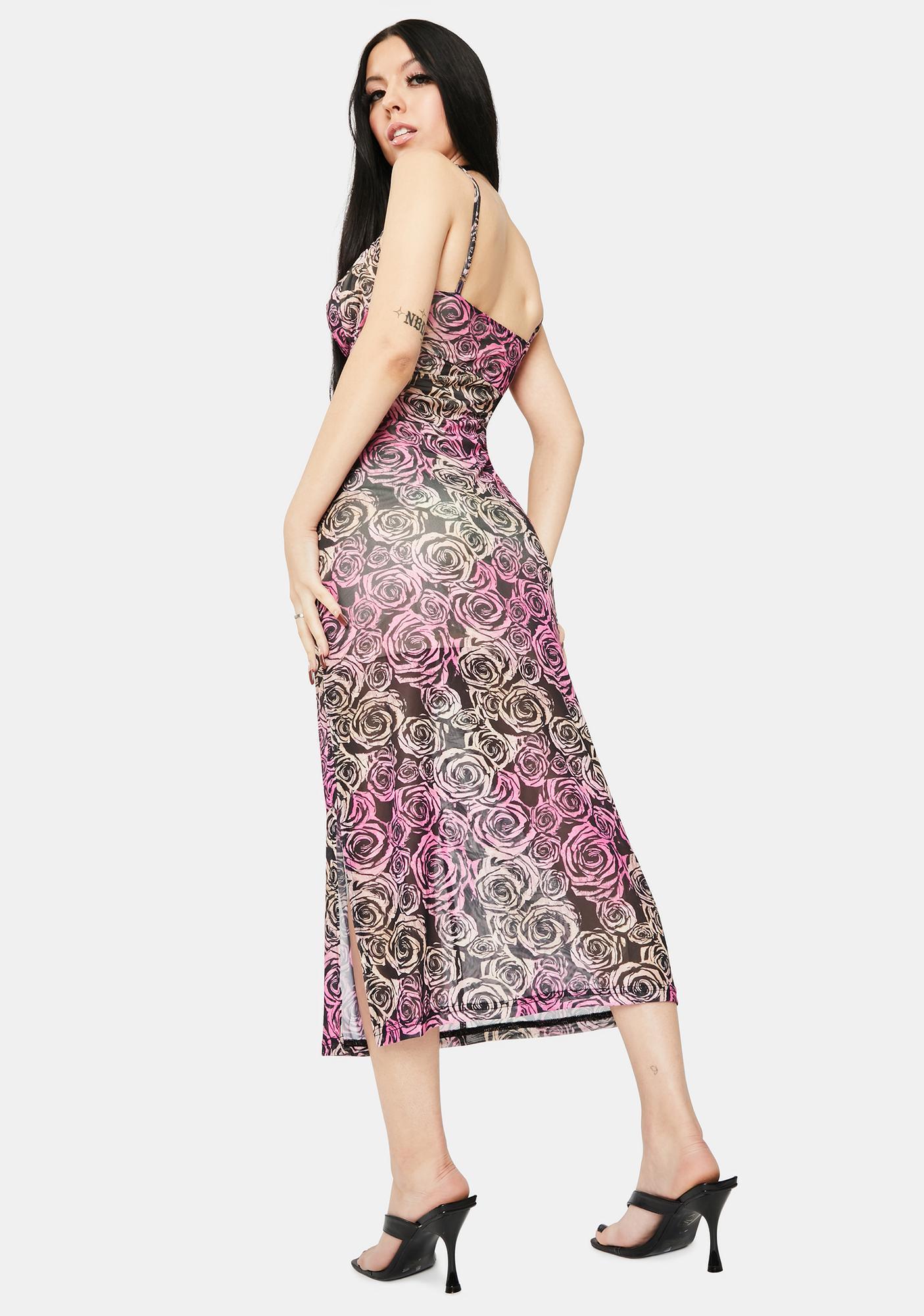 Twiin Sabine Mesh Midi Dress