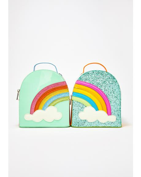 Sparkle Rainbow Clique BFF Backpack