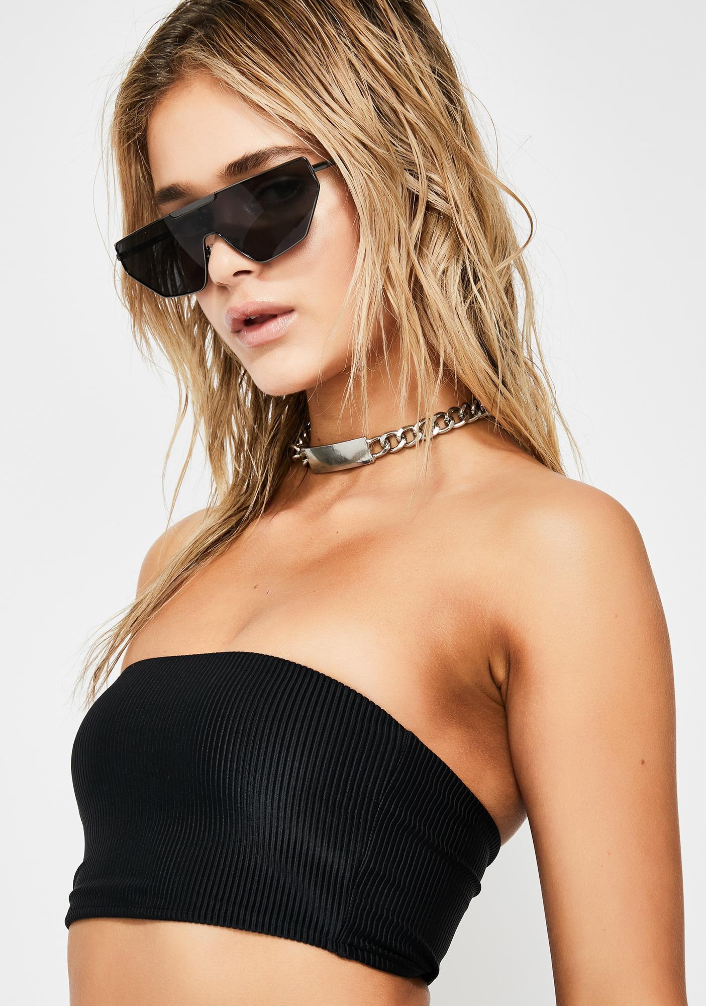 Frankies Bikinis Midnight Jenna Bikini Top