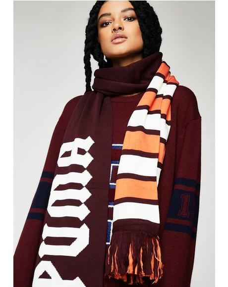 FENTY PUMA By Rihanna Wine Long Varsity Scarf