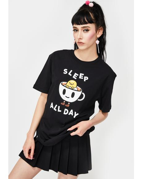 X Gudetama Sleep All Day Graphic Tee