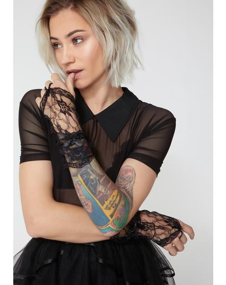 Sinful Seduction Lace Gloves