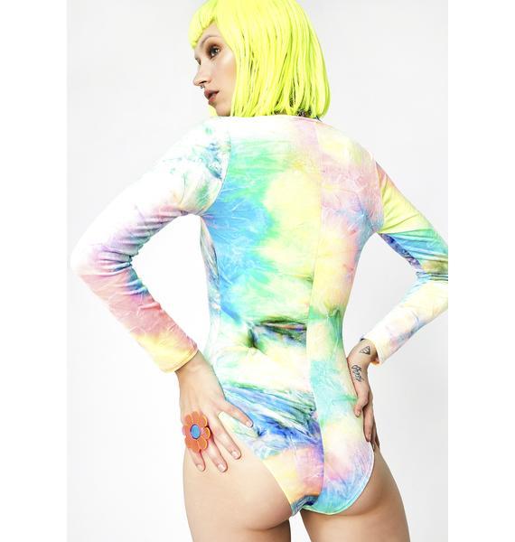 J Valentine Synesthesia Lace-Up Bodysuit