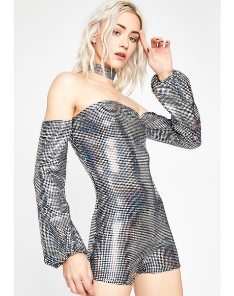 Disco Dazzle Holographic Romper
