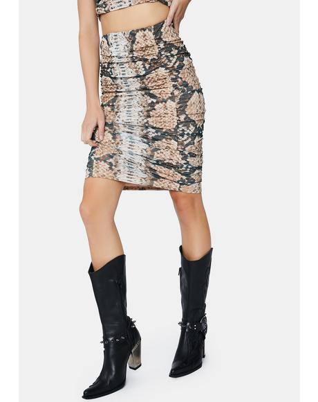 Placement Snake Venice Midi Skirt