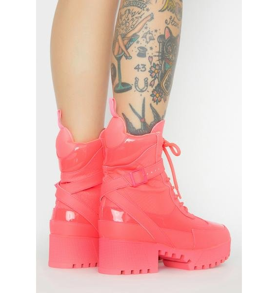 Pixie Energy Boost Lace Up Boots