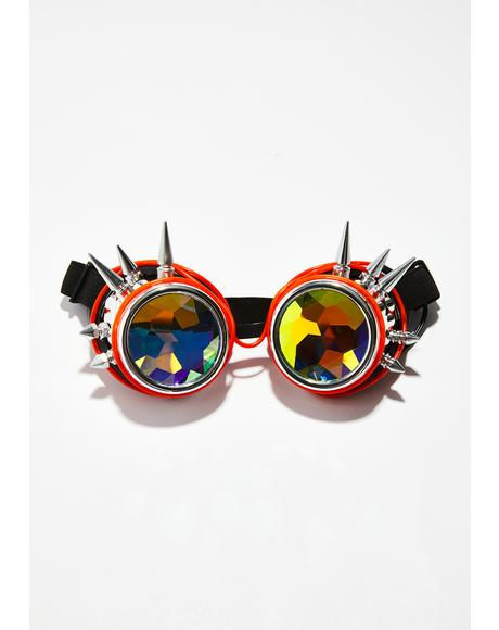Spike Light Up Kaleidoscope Goggles