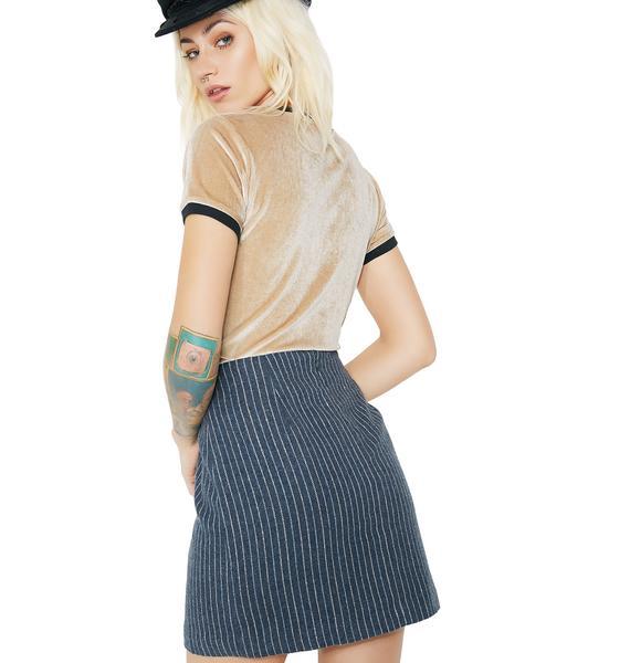 Bottom Line Pinstripe Skirt