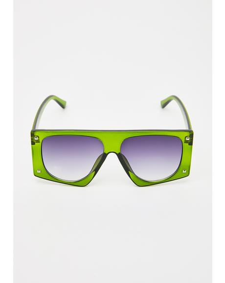 Drama Central Oversized Sunglasses